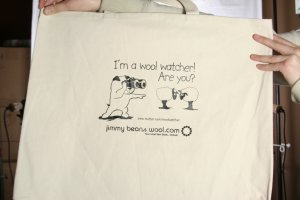 Jimmy Beans Wool Tote Bags - Wool Watcher Tote Bag
