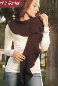 Misti Alpaca Ruffle Scarf in Garter Kit - Scarf and Shawls