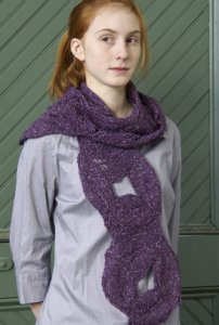 Classic Elite Portland Tweed Wreath Scarf Kit - Scarf and Shawls