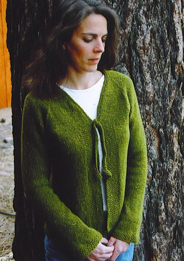 Knitting Pure and Simple 241 Neckdown V Neck Shaped Cardigan Kit - Women's Cardigans
