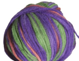 Lana Grossa Dasolo Stripes Yarn - 504 Purple/Grey/Orange