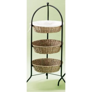 Lantern Moon Seagrass Tower - 3 Tier
