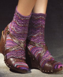 Regia Erika Knight Eyelet Socks Kit - Socks