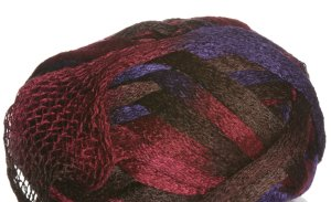 Knitting Fever Flounce Yarn - 18 Purple, Burgandy, Brown