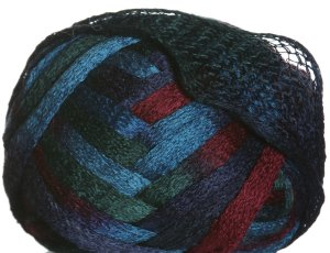 Knitting Fever Flounce Yarn - 19 Turquoise, Blue, Burgandy