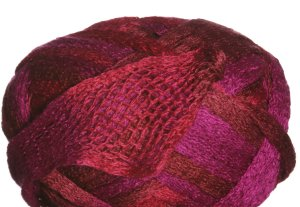 Knitting Fever Flounce Yarn - 22 Red, Fuschia, Burnt Orange