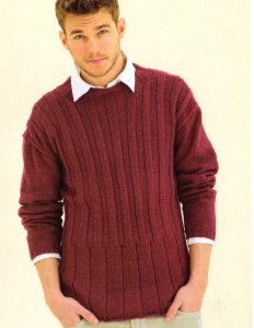 Sublime Cashmere Merino Silk DK Clubhouse Crew Kit - Mens Sweaters