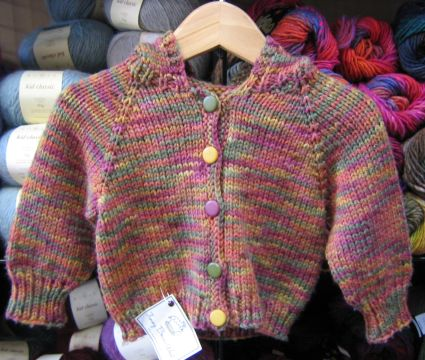 Knitting Pure and Simple #982 Babies Neckdown Cardigan Kit - Baby and Kids Cardigans