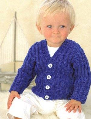 Sublime Baby Cashmere Merino Silk DK Captain Cardie Kit - Baby and Kids Pullovers