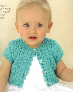 Sublime Baby Cashmere Merino Silk DK Little Nancy Cardi Kit - Baby and Kids Cardigans