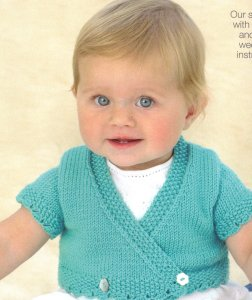 Sublime Baby Cashmere Merino Silk DK Little Anna Wrap Kit - Baby and Kids Cardigans