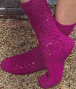 Cascade Heritage Twisted Flower Kit - Socks