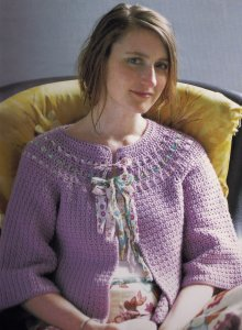 Debbie Bliss Cashmerino Aran Millie Cardigan Kit - Crochet for Adults