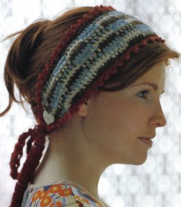 Blue Sky Alpacas Melange Sienna Headband Kit - Crochet for Adults