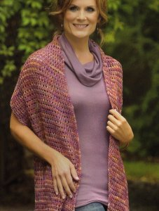 Malabrigo Sock Tunisian Crochet Shawl Kit - Crochet for Adults