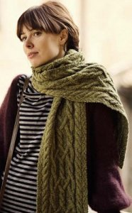 Berroco Blackstone Tweed Dryad Cabled Scarf Kit - Scarf and Shawls
