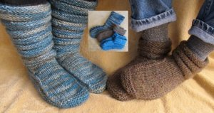 Knitting Pure and Simple Sock Patterns - 116 - Mukluk Slippers Pattern
