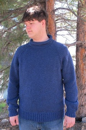 Free Knitting Pattern Mens Chunky Jumper : Knitting Pure and Simple Mens Sweater Patterns - 1110 - Bulky Neck Down ...