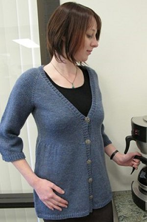 Knitting Pure and Simple Women's Cardigan Patterns - 0118 - Neck Down Swing Cardigan Pattern