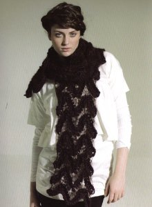 Rowan Big Wool and Kidsilk Haze Trace Scarf Kit - Scarf and Shawls
