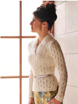 Blue Sky Fibers Adult Clothing Patterns - zFitted Lace Pullover Pattern