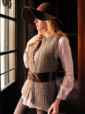 Blue Sky Fibers Adult Clothing Patterns - Autumn Vest Pattern