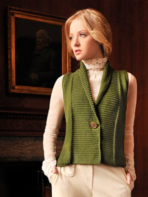 Blue Sky Alpacas Adult Clothing Patterns - Shawl Collar Vest Pattern