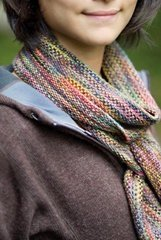 Koigu KPPPM Churchmouse Linen Stitch Scarf Kit - Scarf and Shawls
