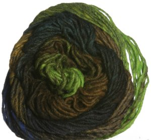 Noro Kureyon Yarn - 276 Lime/Browns/Black/Navy (Discontinued)