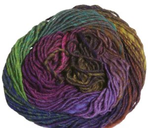 Noro Kureyon Yarn - 274 Purples/Lime/Mustard/Indigo (Discontinued)