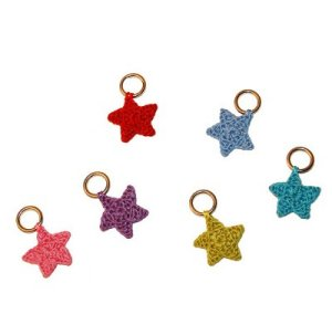 Lantern Moon Stitch Markers - Multi-Color Star