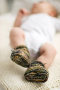 Churchmouse Stay on Booties in Three Gauges Kit - Baby and Kids Socks