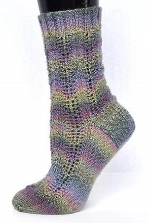 Crystal Palace Sausalito Scalloped Socks Kit - Socks