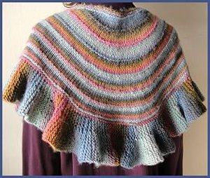 Crystal Palace Mochi Plus Ruffled Shawl Kit - Scarf and Shawls