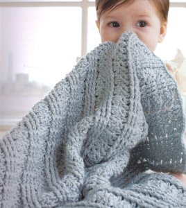 Debbie Bliss Cashmerino Aran Textured Blanket Kit - Crochet for Kids