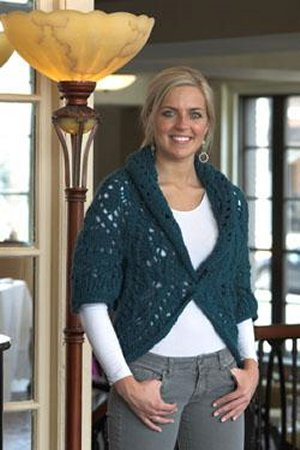 Plymouth Sweater & Pullover Patterns - 2121 Circle Shrug Pattern