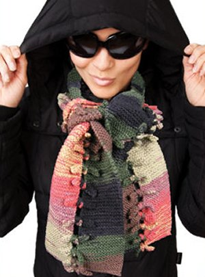 Knit One, Crochet Too Patterns - Bowties Scarf Pattern