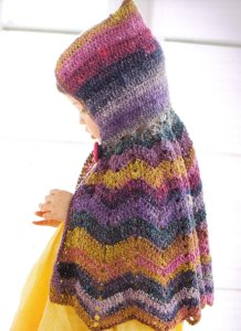 Noro Silk Garden Sock Hooded Capelet Kit - Crochet for Kids
