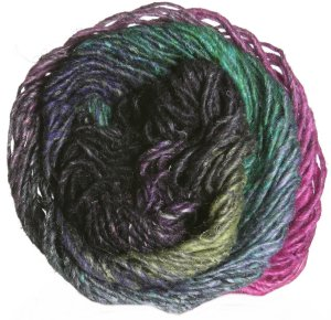 Noro Silk Garden Yarn - 326 Pinks, Violet, Black, Green (Discontinued)
