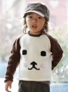 Stitch Nation Washable Ewe Dog-Eared Sweater Kit - Baby and Kids Pullovers
