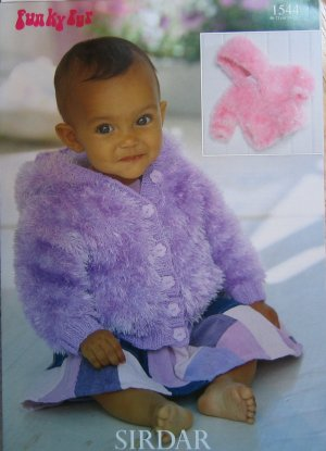 Sirdar Funky Fur Pattern Patterns - 1544 - Jackets Pattern at Jimmy Beans Wool