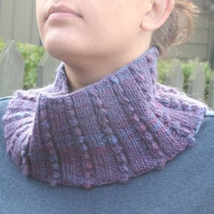 Knitting at Knoon Berry Cobbler Cowl Kit - Scarf and Shawls