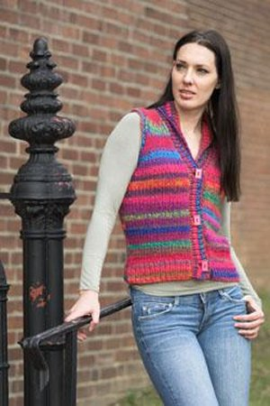 Plymouth Yarn Sweater & Pullover Patterns - 2106 -  Women's Vest Pattern