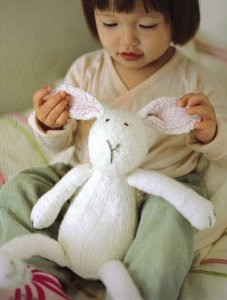 Blue Sky Fibers Worsted Cotton Bunny Kit - Baby and Kids Accessories