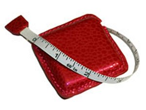 Debra's Garden Faux Leather Tape Measure - Red