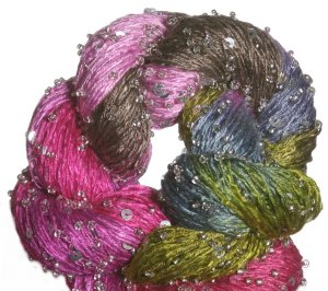 Artyarns Beaded Silk & Sequins Light Yarn - 1024 w/Silver