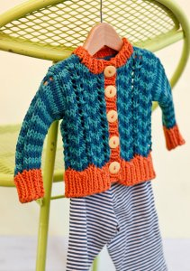 Berroco Weekend Chunky Parker Cardigan Kit - Baby and Kids Cardigans