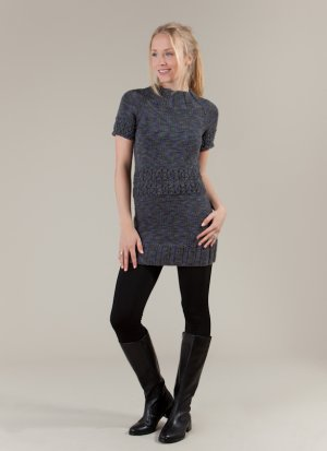 Artyarns Patterns - I208 Top-Down Roadster Tunic Pattern