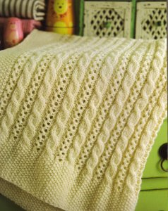 Cascade 220 Superwash Cable and Lace Blanket Kit - Baby and Kids Accessories