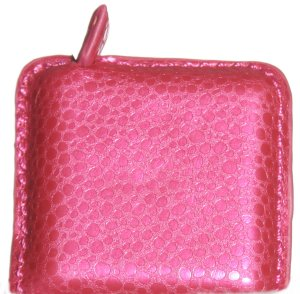 Debra's Garden Faux Leather Tape Measure - Pink